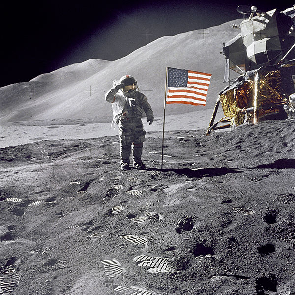 Man on Moon photo NASA photo AS15-88-11863 1 August 1971