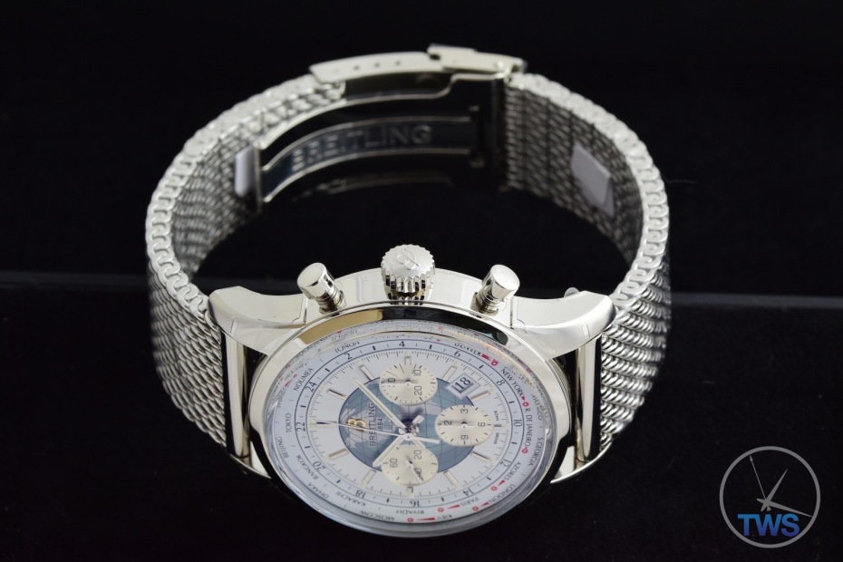 Breitling Transocean Chronograph Unitime ab0510u0-a732-ss 052