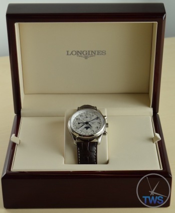 Longines Master Collection Moon Phase: Unboxing Review [L2.673.4.78.3] Supplied Longines box open with watch