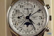 Longines Master Collection Moon Phase: Unboxing Review [L2.673.4.78.3] Dial close up