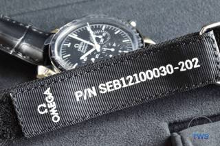 The NASA Speedmaster strap with unique serial number Omega Speedmaster Professional Moonwatch 42mm: Unboxing-Review [311.33.42.30.01.001] © 2016 blog.thewatchsource.co.uk All Rights Reserved
