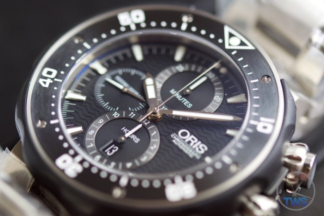 Unboxing Review: Oris ProDiver Chronograph 01 774 7683 7154-Set1 Oris ProDiver Chronograph turned face up.