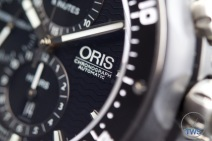 Unboxing Review: Oris ProDiver Chronograph 01 774 7683 7154-Set1 Side view of Oris ProDiver Chronograph with focus on applied 'Oris Chronograph Automatic' markings. © 2016 blog.thewatchsource.co.uk ALL RIGHTS RESERVED