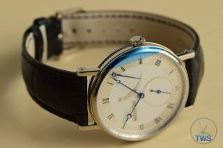 Breguet Classique 5277- Unboxing Review [5277bb-12-9v6] - On side with face in view