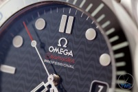 Omega Rio 2016 Olympic Limited Edition Seamaster Diver 300m: Hands On Review [522.30.41.20.01.001] - Dial closeup with transferred black wave pattern inspired by the sidewalks of Copacabana beach