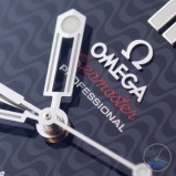 Omega Rio 2016 Olympic Limited Edition Seamaster Diver 300m: Hands On Review [522.30.41.20.01.001] - Hand stalk close up