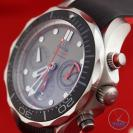 Close up of dial facing left - Omega Seamaster 300m Diver Co-Axial Chronograph 44mm: Hands-On Review [212.92.44.50.99.001 ETNZ]