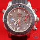 Close up of Omega Seamaster 300m Diver Co-Axial Chronograph 44mm: Hands-On Review [212.92.44.50.99.001 ETNZ]