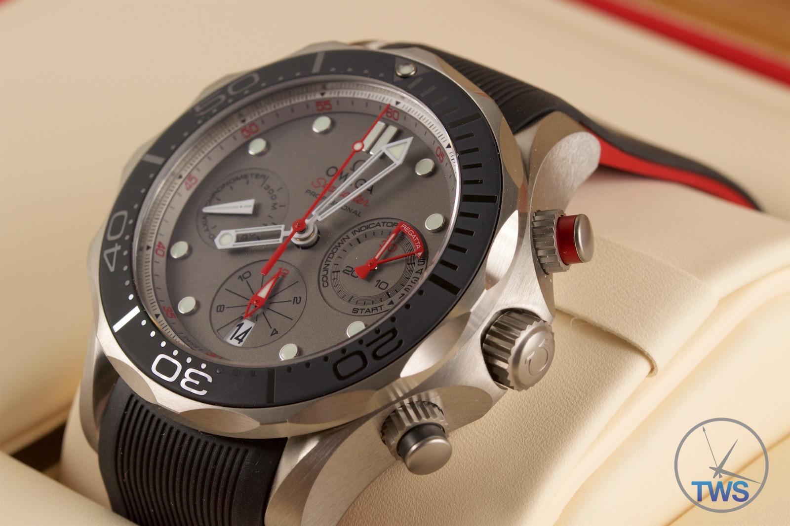 3e5c953d1 Watch sat in box - Omega Seamaster 300m Diver Co-Axial Chronograph 44mm:  Hands
