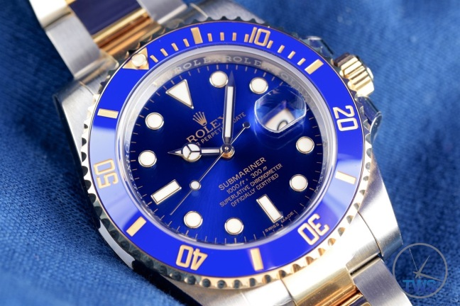 Watch laying down facing right - Rolex Submariner Date: Hands-On Review [116613LB]