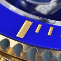 Ceramic bezel close up on the Rolex Submariner Date: Hands-On Review [116613LB]