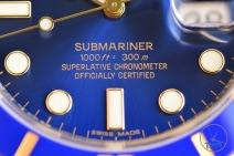 Electric blue sunburst dial of Rolex Submariner Date: Hands-On Review [116613LB]