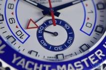 Continuous running seconds, sub-dial closeup, Rolex Yachtmaster II- Hands-On Review [116680]