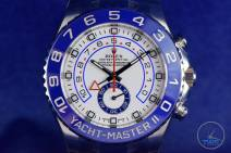 Dial close up the Rolex Yachtmaster II- Hands-On Review [116680]