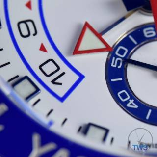 Regatta chronograph count down indexes for the Rolex Yachtmaster II- Hands-On Review [116680]