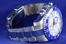 Watch face looking right with bracelet and clasp - Rolex Yachtmaster II- Hands-On Review [116680]