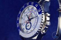 Watch face looking left with time set to ten past ten - Rolex Yachtmaster II- Hands-On Review [116680]