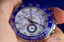 Watch held between fingers - Rolex Yachtmaster II- Hands-On Review [116680]