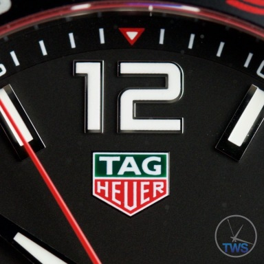 12 o'clock marker on dial - Tag Heuer Senna Special Editions waz1012.ba0883 Unboxing Review