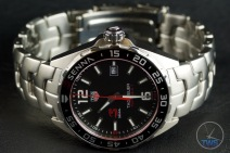 Watch on side with crown up - Tag Heuer Senna Special Editions waz1012.ba0883 Unboxing Review