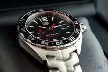 Tag Heuer Senna Special Editions waz1012.ba0883 Unboxing Review - Low-key close up of watch on cushion in presentation box