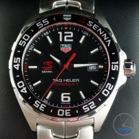 Dial close up of Tag Heuer Senna Special Editions waz1012.ba0883 Unboxing Review