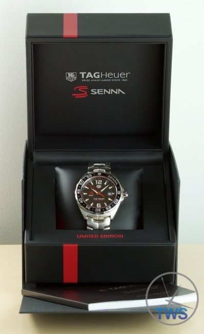 Supplied presentation box, instruction manual, cushion and watch - Senna Special Edition waz1012.ba0883 Watch Unboxing Review