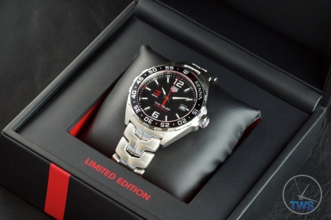 Watch sitting in presentation box - Senna Special Edition waz1012.ba0883 Watch Unboxing Review