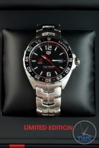 Senna Special Edition waz1012.ba0883 Watch Unboxing Review - Portrait of watch in box on cushion