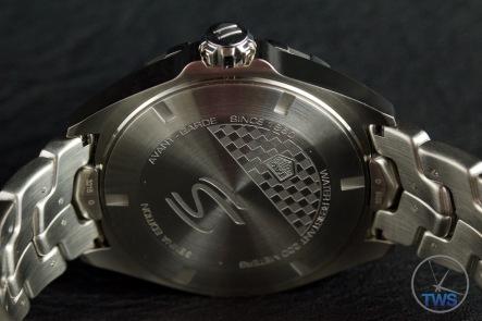 Case back of quartz Tag Heuer Senna Special Editions waz1012.ba0883 Unboxing Review