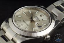 Rolex Oyster Perpetual Datejust II: Hands-On Review [116300 Silver Index] - Laying on its back facing up