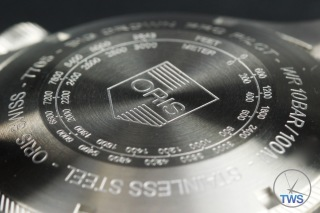 Oris Big Crown ProPilot Altimeter 47mm: Hands-On Review [01 733 7705 4134-07 5 23 14FC] - Close up of case back engravings