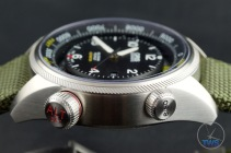 OrisBig Crown ProPilot Altimeter 47mm: Hands-On Review[01 733 7705 4134-07 5 23 14FC] - Side profile of Oris watch with both adjusting crowns